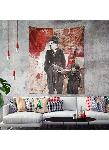 Eponj Home Tapestry Duvar Örtüsü 120x145 cm Charlot Kırmızı Kırmızı